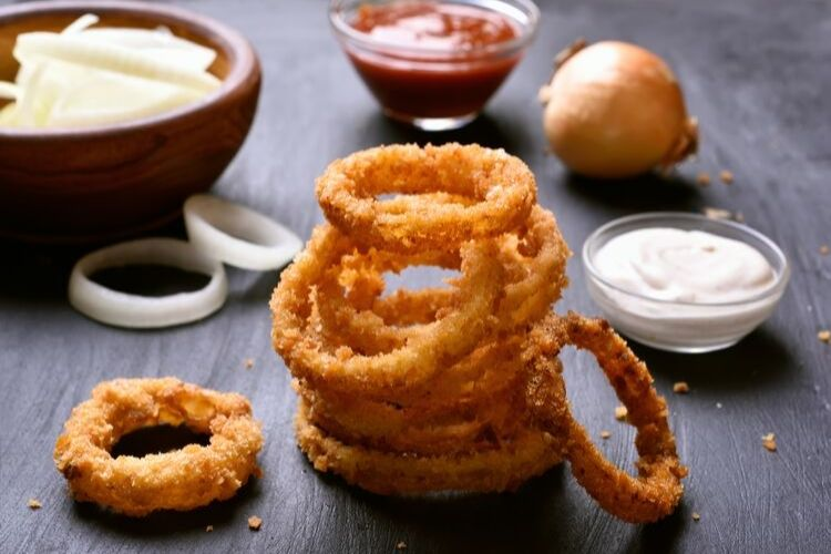 onion rings calories