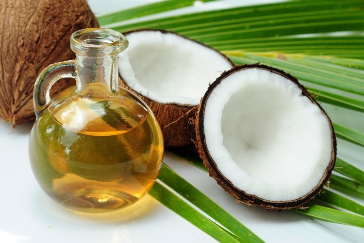 coconut calories oil
