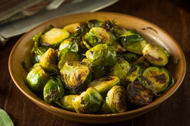 cooked brussel sprouts calories